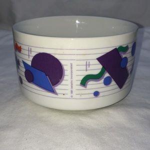 Vintage Dining - Vintage 1991 Betallic Geometric Shapes Funky Bowl